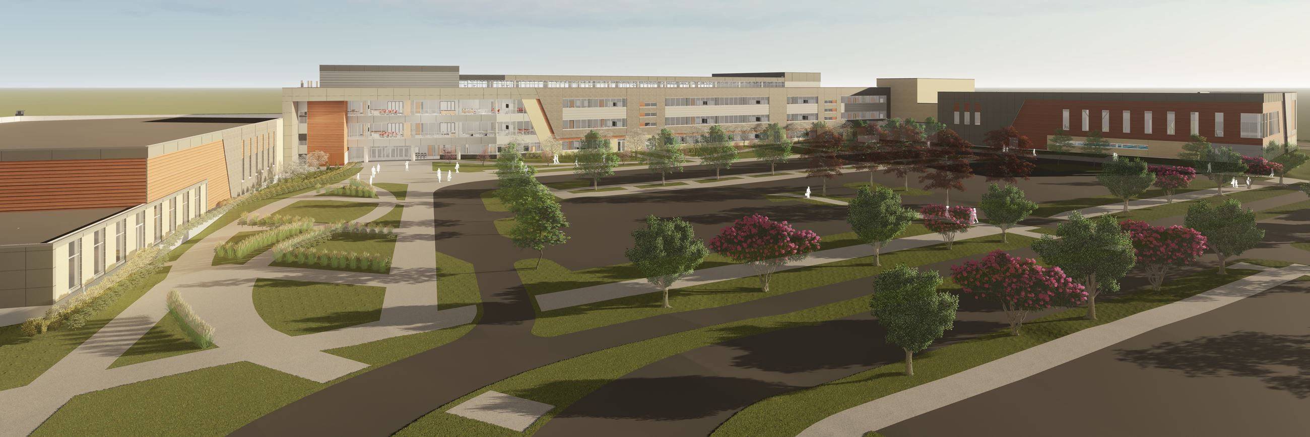Rendering of new Verona Area High School opening in Fall 2020.