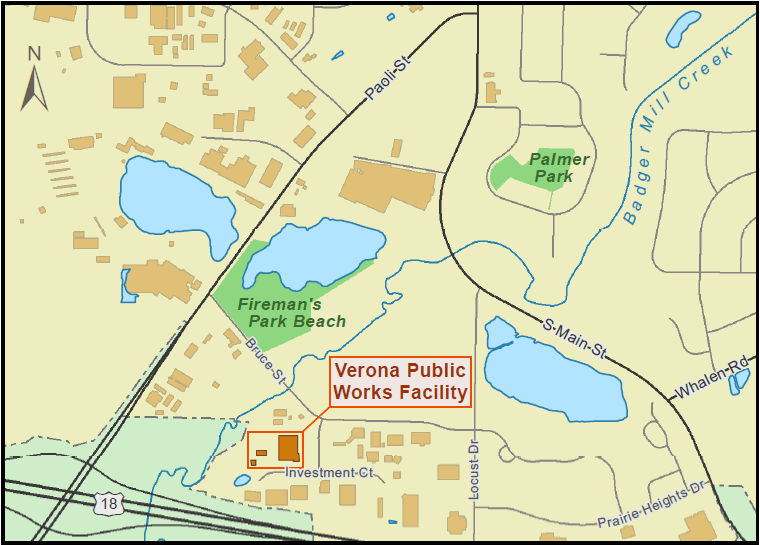 Public Works location map