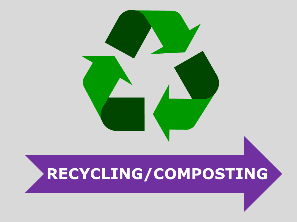 Recycling and composting icon